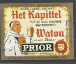 miniature Etiquette de Bière - Belgique - Het Kapittel Watou Prior - 75 cl - Brie Van Eecke - Neuve