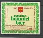 miniature Etiquette de Bière - Belgique - Poperings Hommel Bier - 25 cl - Brie Van Eecke - Neuve