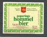 miniature Etiquette de Bière - Belgique - Poperings Hommel Bier - 75 cl - Brie Van Eecke - Neuve