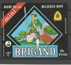 miniature Etiquette de Bière - Belgique - Mini Brigand - Brie Van Honsebrouck - Neuve