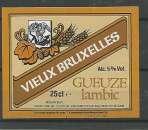 miniature Etiquette de Bière - Belgique - Vieux Bruxelles Gueuze Lambic - 25 cl - Brie Van Honsebrouck - Neuve