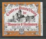 Etiquette de Bière - Belgique - Cuvée des Hauts Voués - 25 cl - Brie de Silly - Neuve