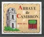 Etiquette de Bière - Belgique - Abbaye de Cambron - 37 cl - Brie de Silly - Neuve