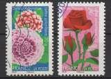 miniature France 2012 Adhésifs - Y & T : 665 et 669 - Dahlias et roses