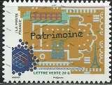 miniature France 2014 - Autoadhésif 1060 - La nouvelle France industrielle - Patrimoine
