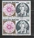 miniature France 1974 YT 1818 Copernic (paire)