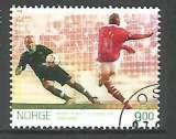miniature Norvège  2005 - YT n° 1483 - Football - scène de match en 1998 - cote 3,00