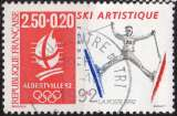 miniature P248 - Y&T n° 2709 - oblitéré - JO Albertville - Ski artistique - 1991 - France