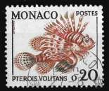 miniature Monaco 1960 65 - Y&T 542 (o) - Pterois Volitans