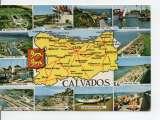 miniature cpm carte géographique département calvados (14)