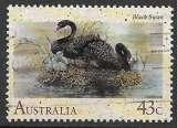 Australie 1991 Y&T 1191 oblitéré - Cygnes noirs