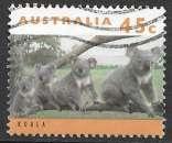 Australie 1994 Y&T 1365 oblitéré - Famille de koalas
