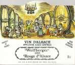 Etiquette de vin d'Alsace