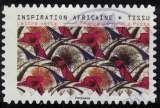 miniature France 2019 Oblitéré Used Tissus Motifs Nature Inspiration Africaine Timbre 07 Y&T 1665 SU