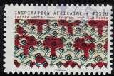 miniature France 2019 Oblitéré Used Tissus Motifs Nature Inspiration Africaine Timbre 09 Y&T 1661 SU