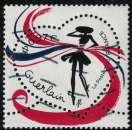 miniature France 2020 Oblitéré Used Saint Valentin Coeurs Guerlain Rubans Y&T 5373 SU