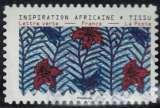 miniature France 2019 Oblitéré Used Tissus Motifs Nature Inspiration Africaine Timbre 06 Y&T 1660 SU