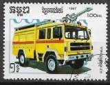 Kampuchea 1987 Y&T 768 oblitéré - Voitures de pompiers