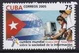 miniature TIMBRE OBLITERE DE CUBA - SOMMET MONDIAL SUR LA SOCIETE DE L'INFORMATION N° Y&T 4296