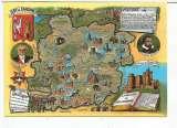 miniature CPM lot et garonne (47) carte géographique brillante