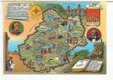 miniature CPM lot (46) carte géographique brillante