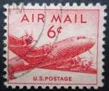miniature USA PA N°35 Douglas DC-4 oblitéré