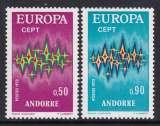 miniature PAIRE NEUVE D´ANDORRE FR. - EUROPA 1972 N° Y&T 217/218