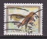 miniature TIMBRE OBLITERE DES ILES FEROE - BEC CROISE (LOXIA CURVIROSTRA) N° Y&T 293