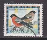 miniature TIMBRE OBLITERE DES ILES FEROE - BOUVREUIL PIVOINE (PYRRHULA PYRRHULA) N° Y&T 312