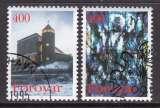 miniature PAIRE OBLITEREE DES ILES FEROE - EGLISE SAINTE-MARIE (NOËL 1995) N° Y&T 285/286