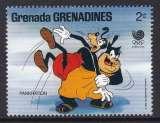 miniature TIMBRE NEUF DES GRENADINES - W. DISNEY : DINGO, PAT ET LE PANCRACE N° Y&T 827