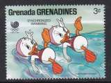 miniature TIMBRE NEUF DES GRENADINES - W. DISNEY : NATATION SYNCHRONNISEE N° Y&T 828