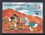 miniature TIMBRE NEUF DES GRENADINES - W. DISNEY : MICKEY ET DONALD VISITENT LE NORD DE L'AUSTRALIE N° Y&T 874