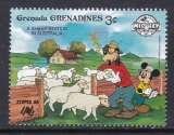 miniature TIMBRE NEUF DES GRENADINES - W. DISNEY : MICKEY ET DINGO ELEVEURS DE MOUTONS N° Y&T 875