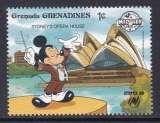 miniature TIMBRE NEUF DES GRENADINES - W. DISNEY : MICKEY CHEF D'ORCHESTRE DEVANT L'OPERA DE SYDNEY N° Y&T 882