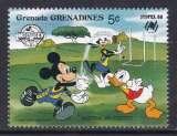 miniature TIMBRE NEUF DES GRENADINES - W. DISNEY : MICKEY, DONALD ET DINGO JOUENT AU FOOT AUSTR. N° Y&T 883