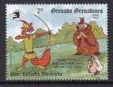 miniature TIMBRE NEUF DES GRENADINES - W. DISNEY : ROBIN JOUE A GUILLAUME TELL N° Y&T 1067