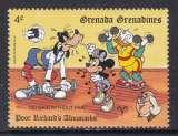 miniature TIMBRE NEUF DES GRENADINES - W. DISNEY : DINGO ET DONALD CULTURISTES N° Y&T 1068