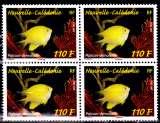 miniature Nouvelle Calédonie 2014 Poisson demoiselle ( Bloc de 4