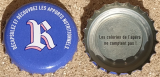 miniature France Capsule bière Beer Crown Cap Rebelle Blanche Radicale Wheat Ale