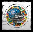 miniature France 1997 - Y&T 3076 (o) - Coupe du monde de foot-ball - Champion du monde