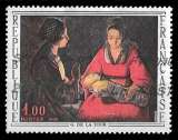 miniature France 1966 - Y&T 1479 (o) - Le Nouveau Né de Georges de la Tour