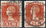 miniature Pays-Bas 1923 - YT 121 - Reine Wilhelmine - 11½ x 12½ et 11 x 11½