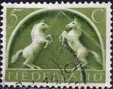 miniature Pays-Bas 1943 - YT 401 - Chevaux