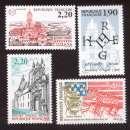 miniature France 1987 Y&T 2476 à 2479 ** Lens, guerre des Etats-Unis, H Capet,La Flèche cote 4,70€