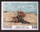 miniature France 1987 Y&T 2474 ** série artistique E Boudin femme à l'ombrelle 5,00 cote 3,00€
