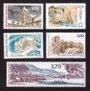 miniature  France 1987 Y&T 2462 à 2466 ** série touristique cote 7,00€