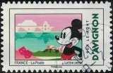 miniature France 2018 Oblitéré rond daté Used Mickey et la France sur le pont d'Avignon Y&T 1585 SU