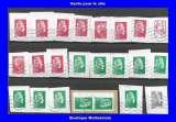 FRANCE - Oblitéré sur fragment - Lot de 23 timbres - Marianne courante- TCA 218