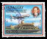 miniature Paraguay 1985 - Y&T PA 994 (o) - Aéroport international d'Asuncion